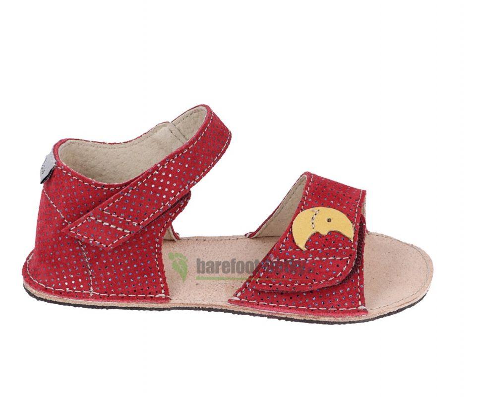 Barefoot Ortoplus barefoot sandálky D203 červené se třpytkami bosá